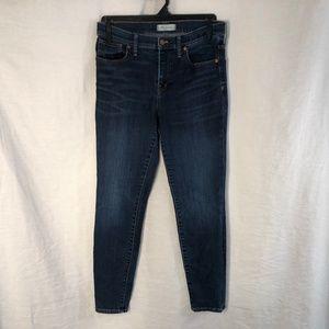 Madewell 30 Jeans Blue High Riser Skinny 959
